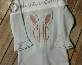 Bunny monogram *Easter shirt*