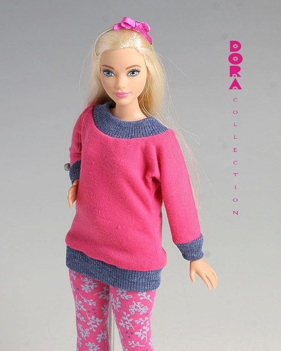 clothes for curvy doll 3piece set