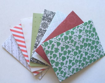 8 Mini Christmas Envelopes perfect for gift cards, thank you notes, fairy notes, stationery