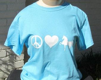 Peace Love Saddlebred