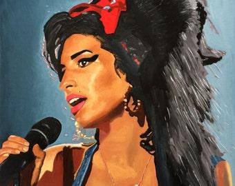 Amy Winehouse - original oil painting 20x16