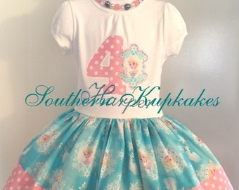 PRiNCESS ELSA FROZEN DiSNEY inspired Twirl Birthday Dress Custom BOUTiQUE Pageant Party All Sizes Vacation Pretty World Land PiNK CRuiSe