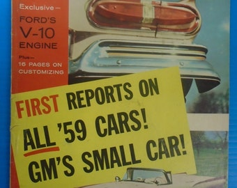 MOTOR LIFE MAGAZINE From September 1958...Reprts On The 1959 Cars...Fords V10...Customizing