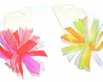 15 pieces Peel And Stick Bows. ( choose any color)