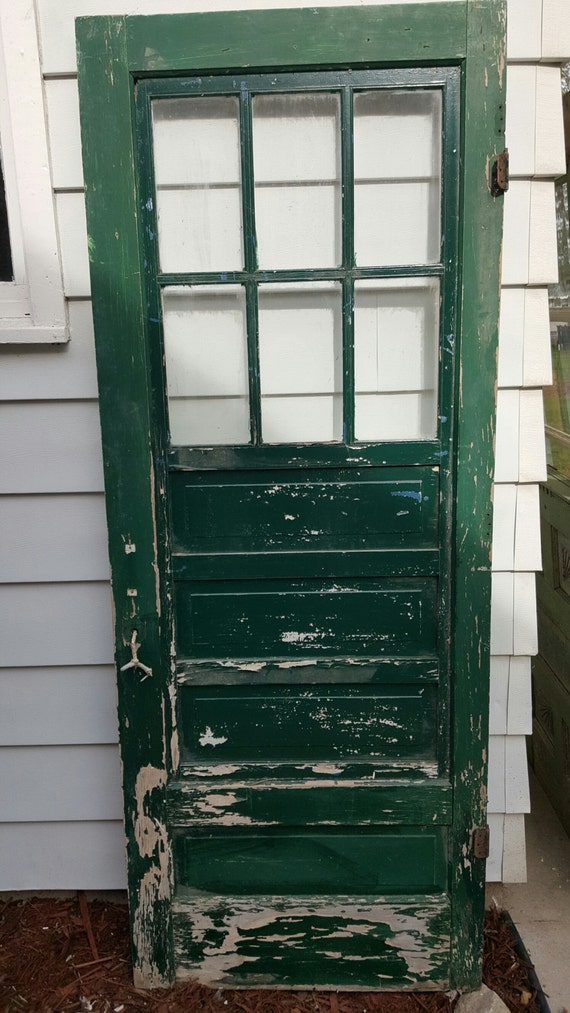 Vintage Wood Screen Door : Vintage old wood door screen building supply