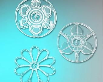 flowflakes coasters - 6 pack