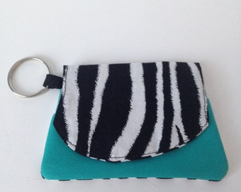 mini wallet, key ring, card holder