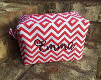 Monogrammed Personalized Name Cosmetic Makeup Bag - Large