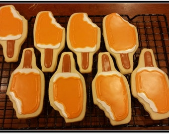 Orange Flavored Creamsicle Cut Out Cookies ( 1 Dozen)
