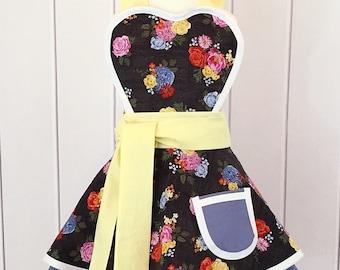 Girls Vintage Flower Apron