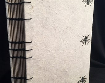 Large Bee Coptic Bound Journal