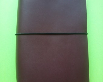 Burgundy leather Midori cover