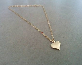 Gold Ankle Bracelet, Gold Anklet, Ankle Bracelet, Delicate Anklet, Foot Jewelry, Anklet, Summer Jewelry, Dainty Anklet, Heart Anklet