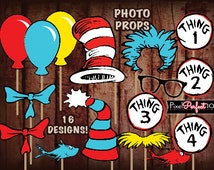 DR SEUSS photo props, Dr. Seuss Baby Shower, Dr. Seuss party decorations, Dr seuss 1st birthday, DIGITAL File, Dr. Seuss photo prop, Seuss