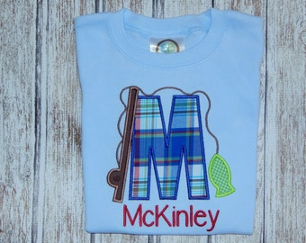 Boy's summer shirt; Boy's personalized shirt; Fishing shirt ; Boy's blue shirt; Boy's shirt for summer