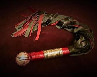 Custom Metal Wrapped Flogger