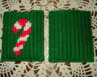Gift Card Holder~Needlepoint~Plastic Canvas~Candy Cane