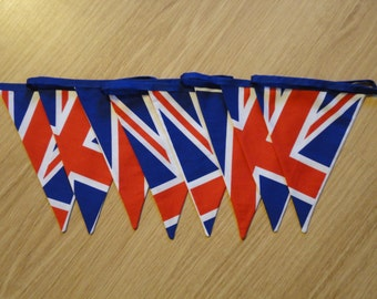 British union flag red, white and blue bunting for a bedroom or playroom