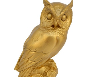 Ancient Greek Owl sculpture statue artifact bronze effect