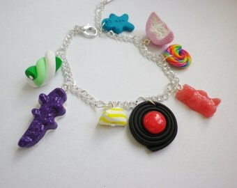 Bracelet multicoloured sweets gourmet jewel