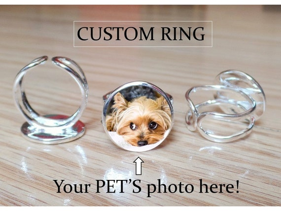 Dog Ring - Custom Personalized Pet Ring - Custom Gift for daughter niece sister mom