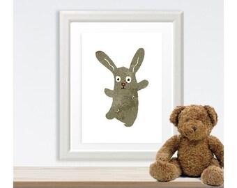 Dancing Bunny Little Ones Poster