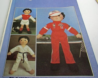 Style 3443 Craft Sewing  Pattern Rag Doll 53 Cm Racing Driver Overalls  Karate Outfit Football Soccer  Outfit Boy Girl Doll Sport  New Uncut