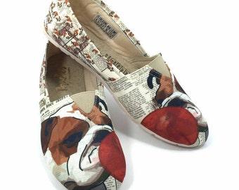 ENGLISH BULLDOG SHOES, Women shoes, Dog Lovers, dog breeds.