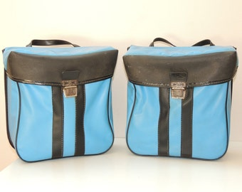 PAIR bag vintage bicycle, bicycle or moped