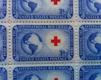 International Red Cross Commemorative Mint Stamp Sheet