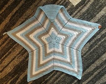 Custom Crochet blanket, Baby Wearing Crochet Blanket, Crochet Star,Baby Wearing Blanket, baby blanket, baby wear accessories, wool blanket