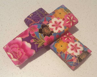 Strap Covers, Pram Strap Covers, Car Seat Strap covers, Pink/ Purple and gold Floral, A H Baby Boutique