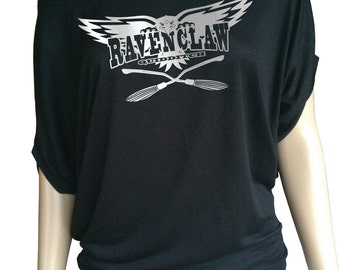 Harry potter  inspired Ravenclaw Quidditch, Lady's loose top.