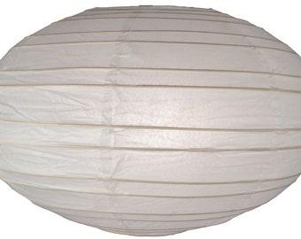 "16"" White Saturn Paper Lantern - 16SAT-WH"