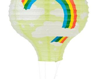 Light Lime Rainbow Hot Air Balloon Paper Lantern - 14HAB-LL