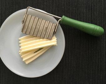 vintage butter or potato chips cutter