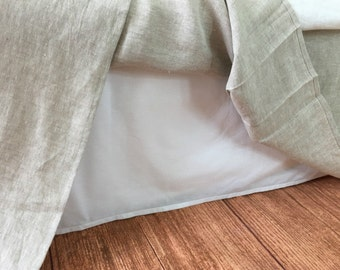 Add White cotton lining to the bed skirt or Bedspread - purchase with bed skirt / Bedspread, NOT SOLD SEPARATELY