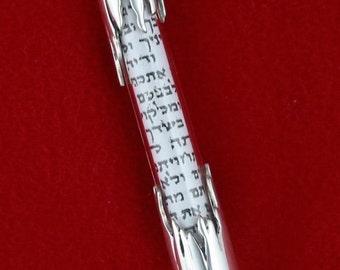 Sterling Silver Mezuzah Case  M-140