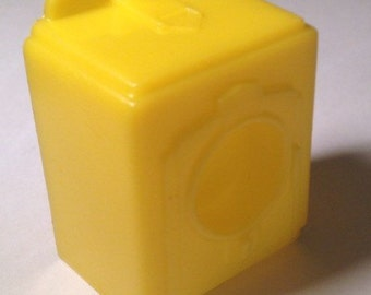 "Marx Superior Yellow Clothes Dryer-vintage plastic Dollhouse Furniture 1/2"" scale"