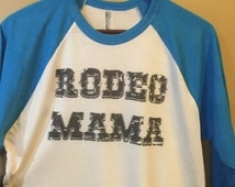 Baseball Tshirt, 3/4 sleeve tshirt, mom shirt, rodeo, graphic tee, rodeo mom, country western style, glitterngrit designs, baseball tee