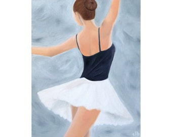 Ballet Print, Oil Painting, Original Art, Giclee Print, Dance Art, Ballet Dancer Print, Ballerina Painting, Dance Painting, Woman Painting