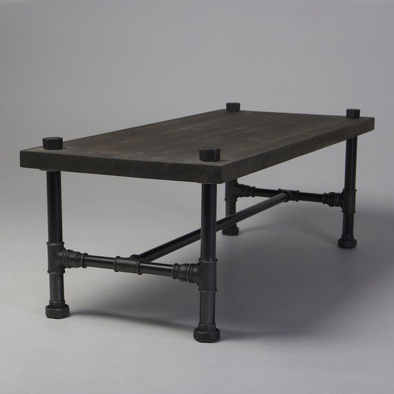 Harrison Industrial Coffee Table: Classic Industrial Style Coffee Table