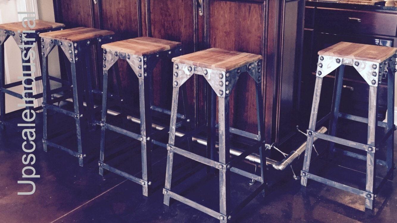 Brewery Stool Industrial Bar Stool Rustic Bar Stool Bar  : ilfullxfull10075292951pt1 from www.upscaleindustrial.com size 1334 x 750 jpeg 208kB
