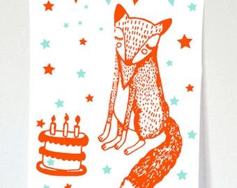 Mr Fox teatowel