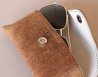Vintage Leather Glasses Case