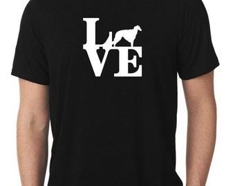 Love Borzoi T-Shirt park russian wolfhound T396