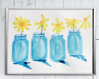 Mason Jar Wall Art mason jar wall decor | etsy