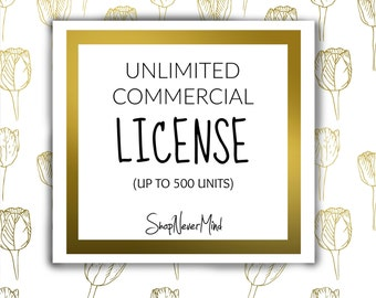 UNLIMITED Commercial License that covers all the designs in our store