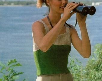crochet, pattern, top, blouse, sweater, crochet pattern, women, sleeveless, vintage pattern, summer pattern, tank top, pullover, blouse