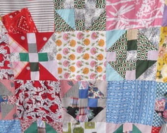 Vintage 1950's Quilt Top King Size